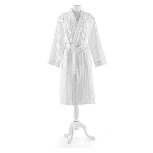 100% Cotton Waffle Bathrobe by Peacock Alley